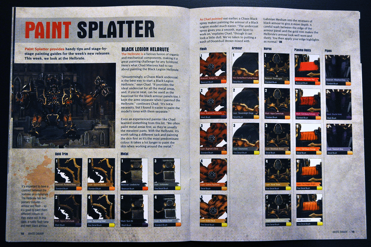 White Dwarf March 2014 Week 2 Paint Splatter