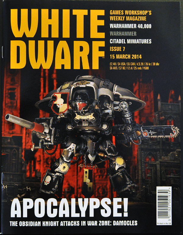 White Dwarf March 2014 Week 3 Cover