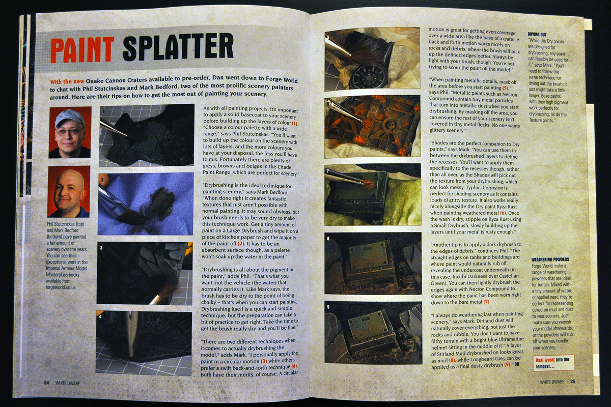 White Dwarf March 2014 Week 4 Paint Splatter